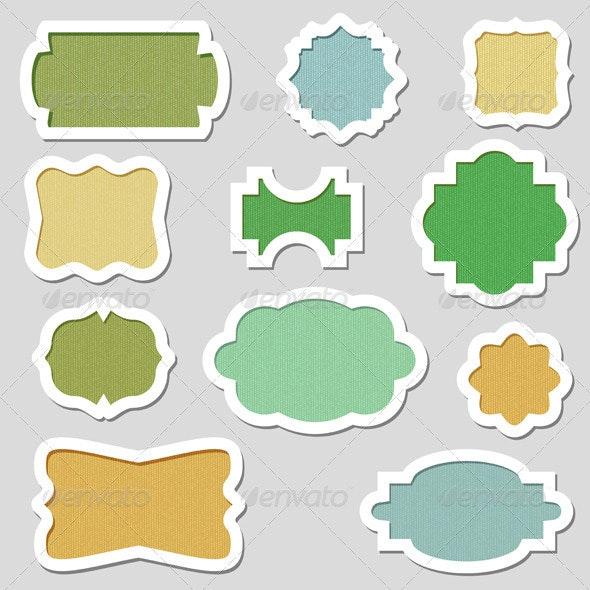 Colorful Vector Frames - Borders Decorative