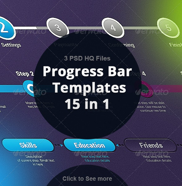 Step By Step Progress Bar Template - Forms Web Elements