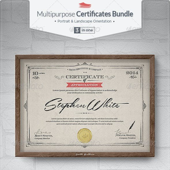 Multipurpose Certificates Bundle