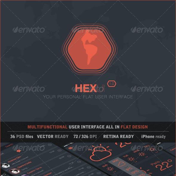 HexUI Flat Design