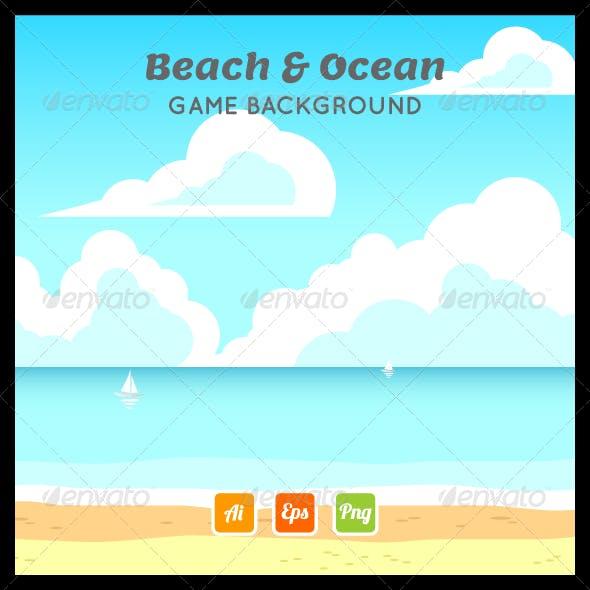 Beach Ocean Game Background