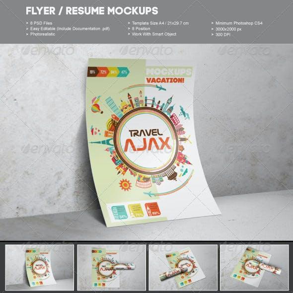 Flyer / Resume Mockups