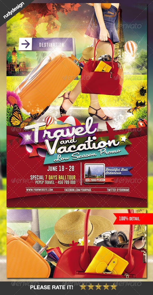 Travel Tour and Vacation Flyer - Holidays Events