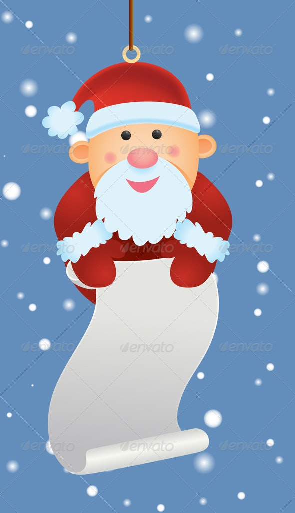Santa Ornament - Christmas Seasons/Holidays