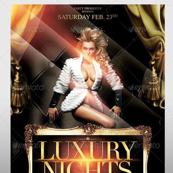 The Luxury Nights Flyer Template