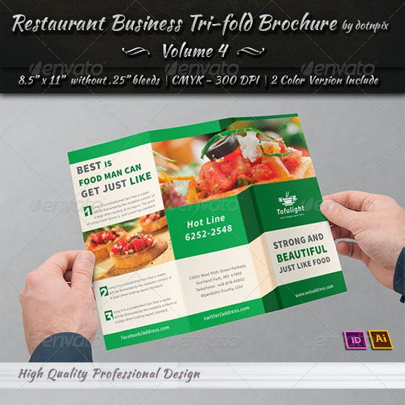 Restaurant Business Tri-Fold Brochure | Volume 4
