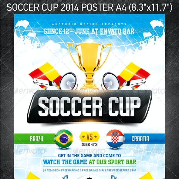 Soccer Cup 2014 poster