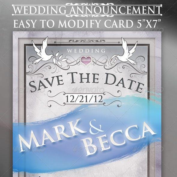 Wedding Announcement Card Template
