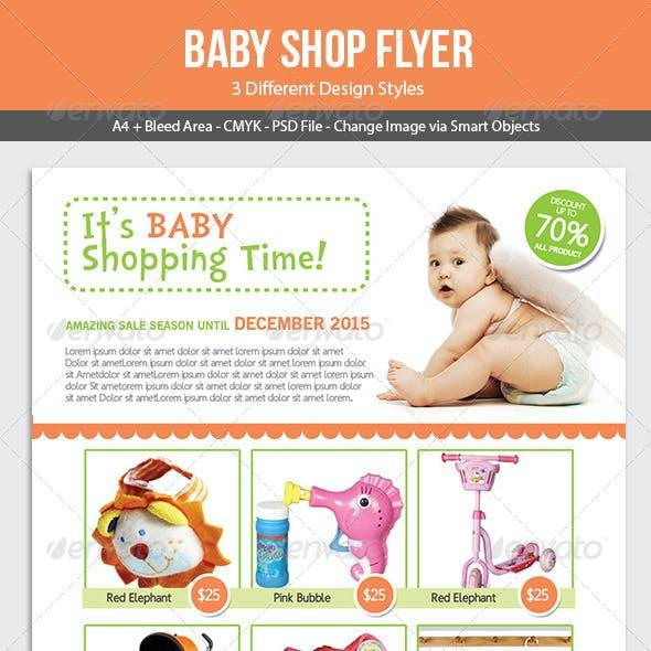Baby Shop Flyer