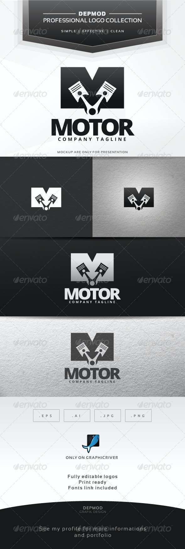 Motor Logo - Letters Logo Templates