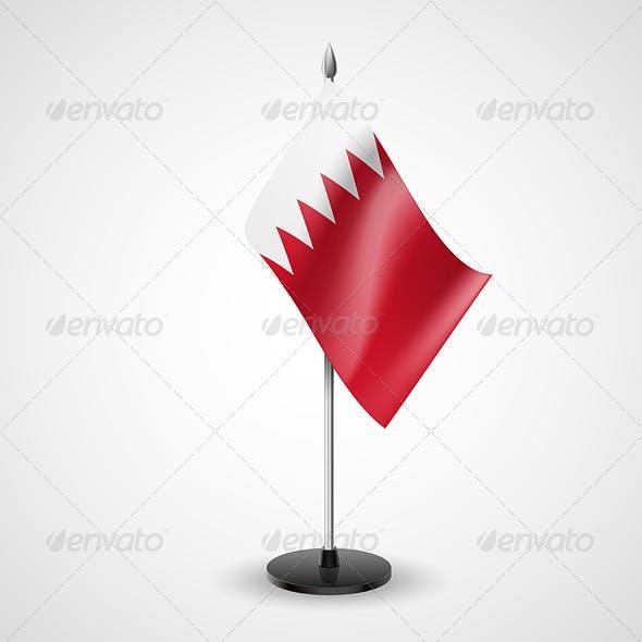 Table flag of Bahrain