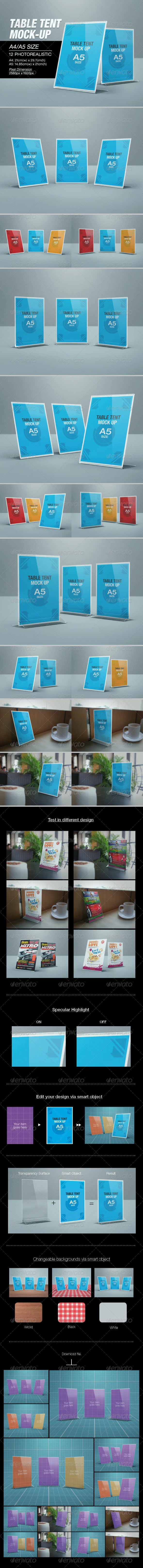 Table Tent Mock-up - Print Product Mock-Ups