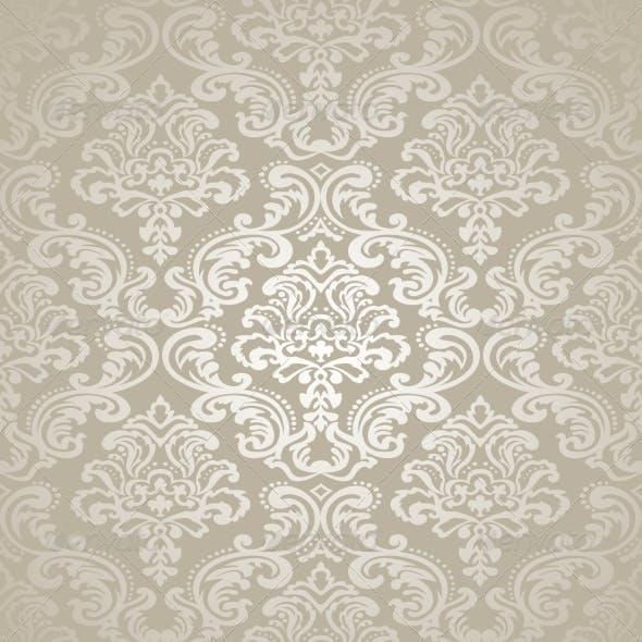 Seamless Pattern Background. Damask Wallpaper.