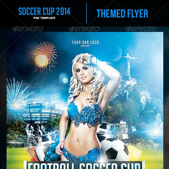 Soccer Cup 2014 Flyer with Fixture - Eng, Spa