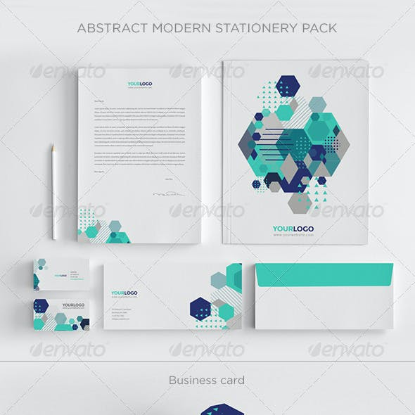 Abstract Modern Stationery Pack