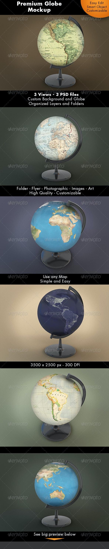 Globe Mockup - Miscellaneous Product Mock-Ups