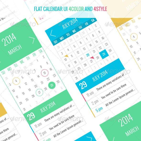 FLAT calendar UI