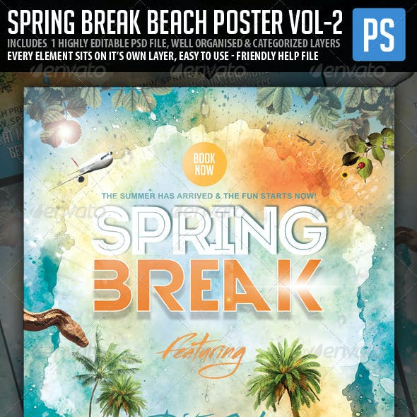 Spring Break Beach Party Vol.2 Poster/Flyer