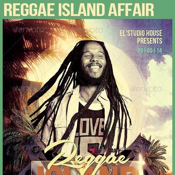 Reggae Island Affair Party Flyer