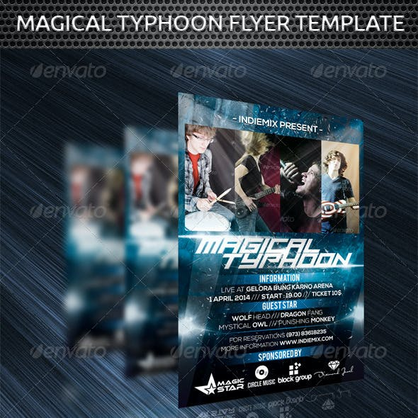 Magical Typhoon Flyer Template