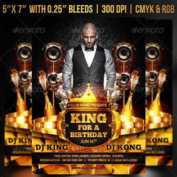 King for a Birthday Flyer