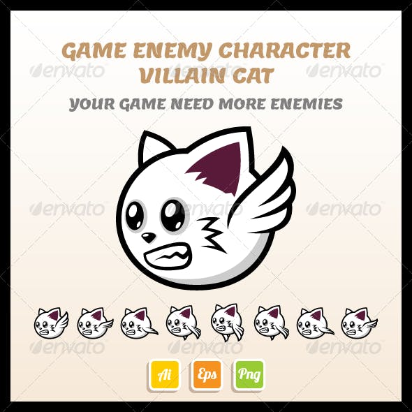 Villain Cat Sprite Sheet