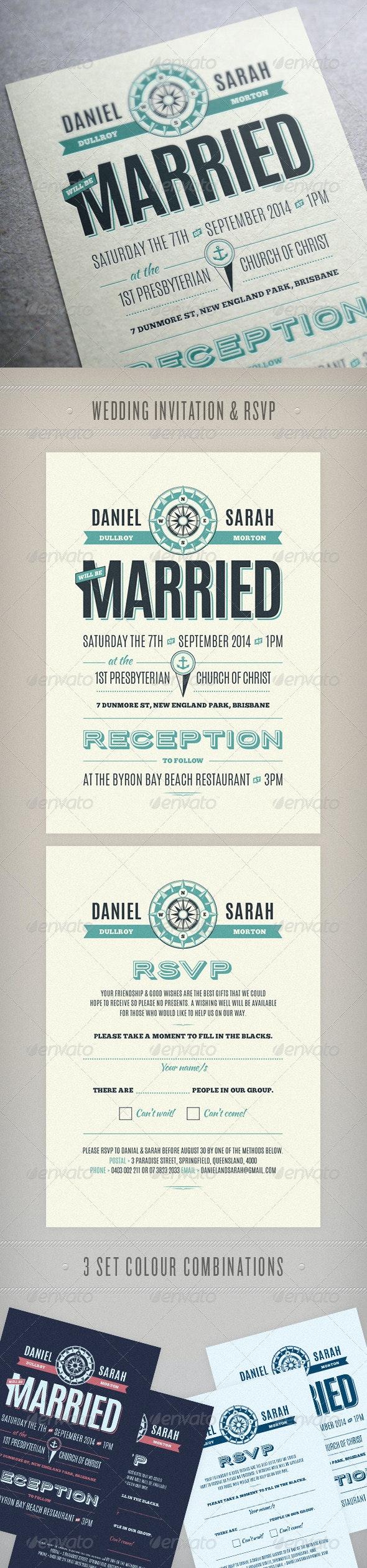 Nautical Wedding Invite - Weddings Cards & Invites