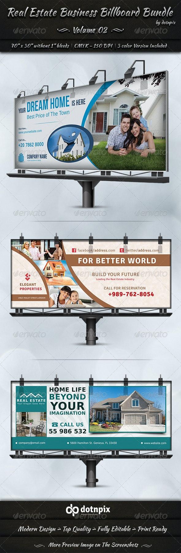 Real Estate Business Billboard Bundle | Volume 2 - Signage Print Templates