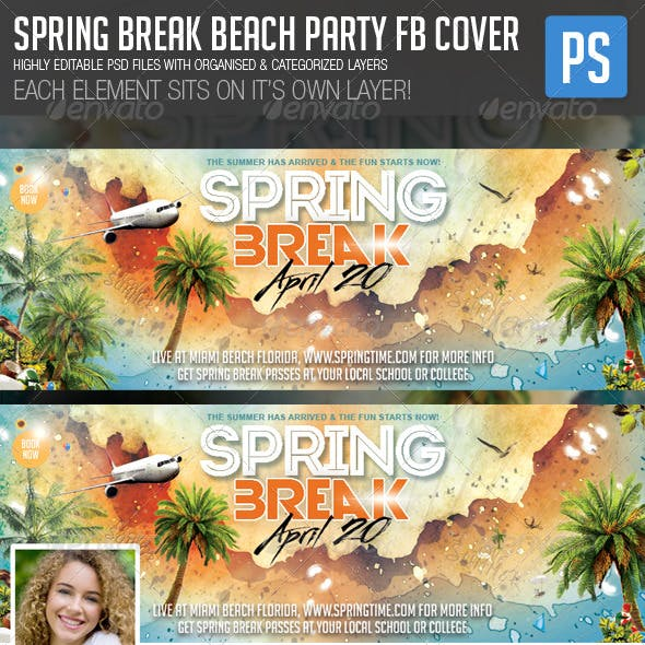 Spring Break Beach Party FB Cover