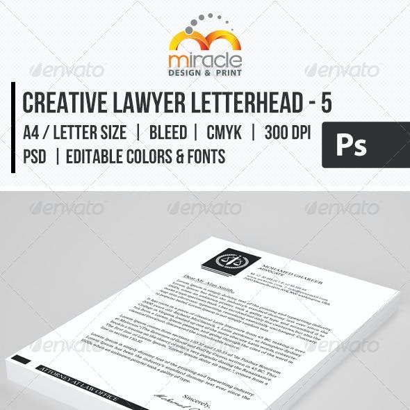 Creative Lawyer Letterhead #5