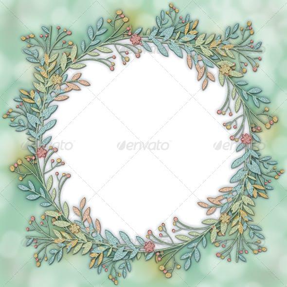 Wreath Frame Background