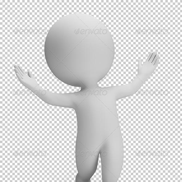 3D Small People - Astonishment