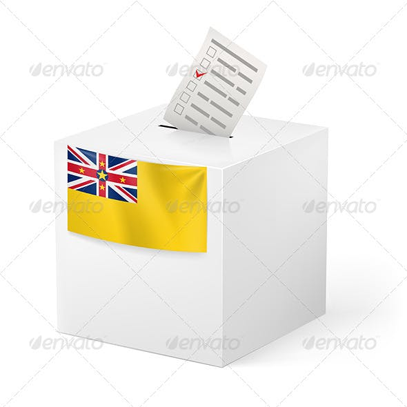 Ballot Box with Voting Paper