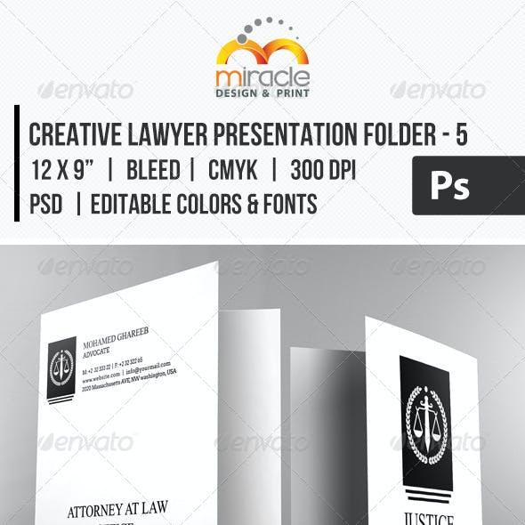 Creative Lawyer Presentation Folder #5