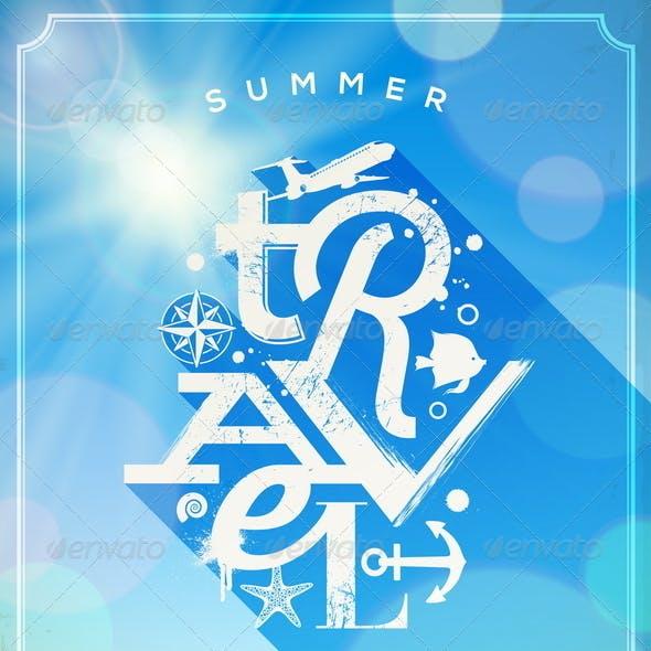 Summer Travel Lettering Design