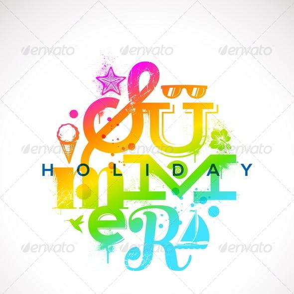 Summer Holidays Multicolored Design