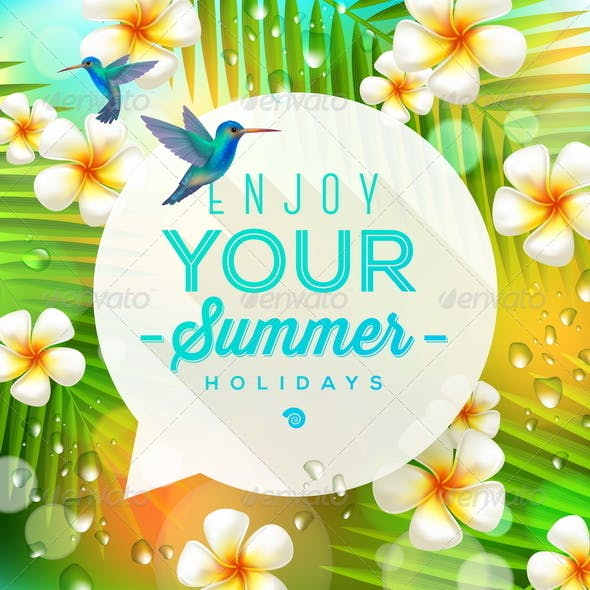 Speech Bubble with Summer Greeting