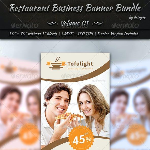 Restaurant Business Banner Bundle | Volume 1
