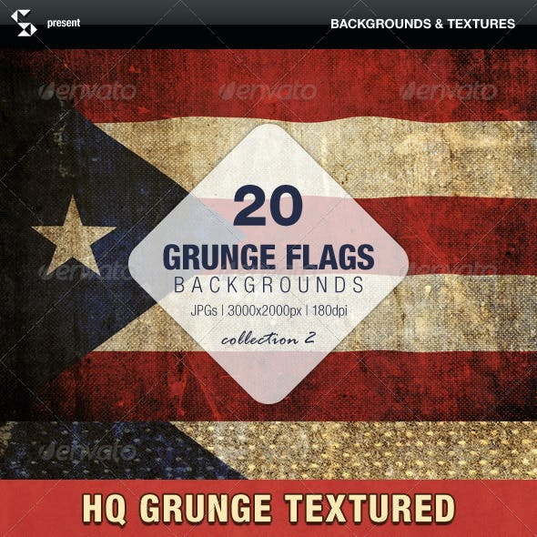 Grunge Flags - 20 Countries (Collection 2)