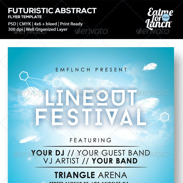 Futuristic Abstract Music Festival Flyer Templates