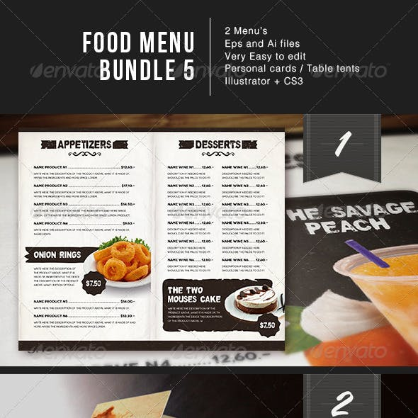 Food Menu Bundle 5