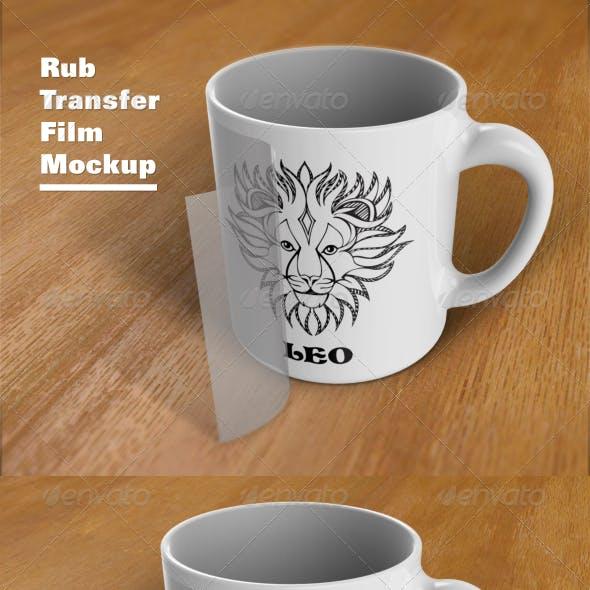 Rub Transfer Film Mockup
