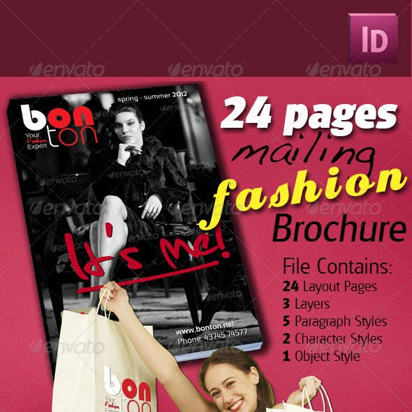 24 Pages Mailing Fashion Brochure