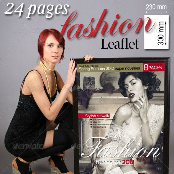 24 Pages Fashion Leaflet