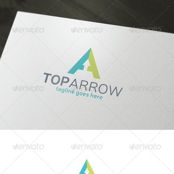 Top Arrow Logo — Letter A