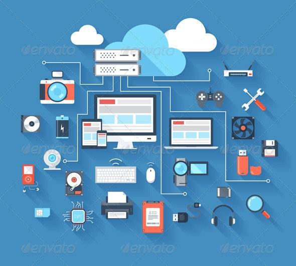 Hardware Icons - Technology Icons