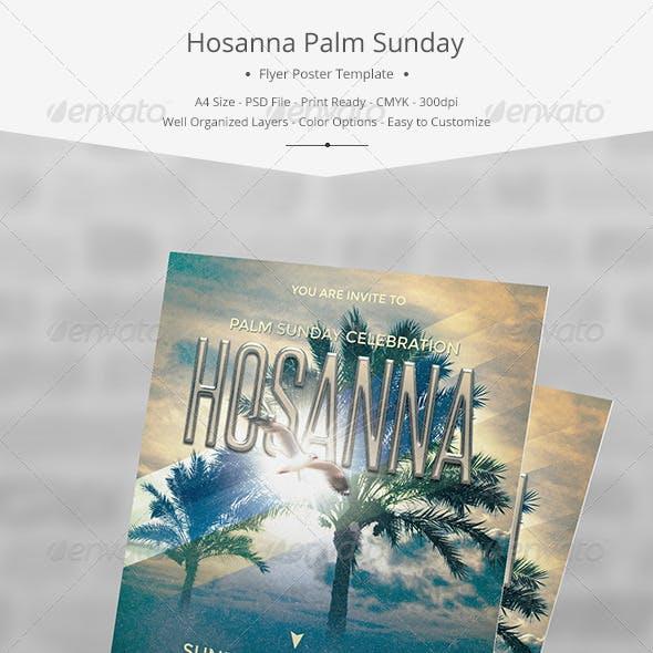 Hosanna Palm Sunday Flyer/Poster Template