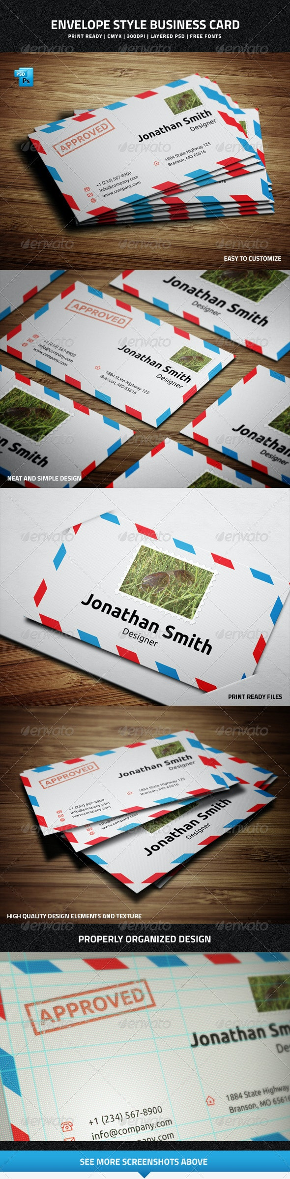 Envelope Style Business Card - 33 - Creative Business Cards