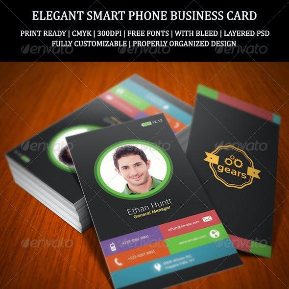 Elegant Smart Phone Business Card