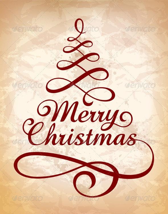 Calligraphic Christmas lettering - Christmas Seasons/Holidays